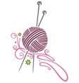 Needlework knitting vector image