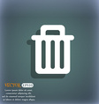 Recycle bin icon symbol on the blue-green abstract vector image