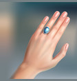 ring on finger vector image