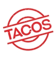 Tacos rubber stamp vector image