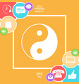 yin yang symbol of harmony and balance vector image