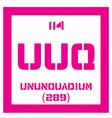 Ununquadium chemical element vector image