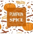 Pumpkin spice seamless pattern set vector image