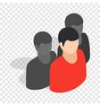 avatar men isometric icon vector image