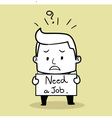 Business Man Unemployed vector image