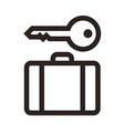 Baggage storage - travel icon vector image