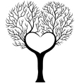Tree branch in shape of heart vector image vector image