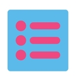 Items flat pink and blue colors rounded button vector image