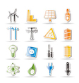 electricity and energy icons vector image