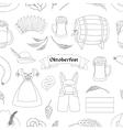 Oktoberfest pattern Germany elements vector image