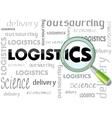 logistics b vector image vector image