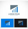business finance progress square logo vector image