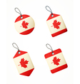 flag canada labels vector image