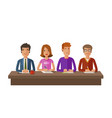 group of judges or students exam education vector image