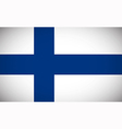 National flag of Finland vector image