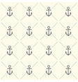 Seamless pattern with grey anchors vector image