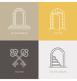 set of logo design templates and emblems in trendy vector image
