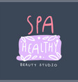 spa healthy beauty studio logo emblem for vector image