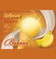 sweet banana ice cream design ad vector image