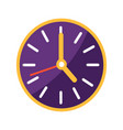 wall clock with big and small arrows on clockface vector image