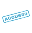 Accused Text Rubber Stamp vector image