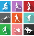 9 sport icons vector image