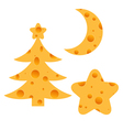 Christmas Cheese vector image