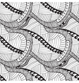 Seamless pattern with wave triangle and line vector image