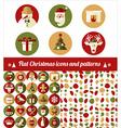 Christmas design icons set vector image