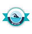 Be Active design vector image