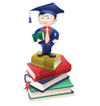 educated boy vector image