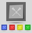 Lacrosse Sticks crossed icon sign on original five vector image