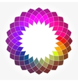 Abstract Digital Flower vector image