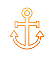 anchor nautical beach transport recreation symbol vector image
