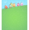 Easter eggs holiday card vector image