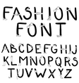 Fashion font with accessories vector image