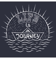 Life is journey 1 vector image