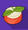 sandwich vegetarian cuisinehamburger tomato and vector image