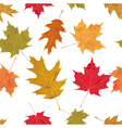 Seamless Tiled Colorful Autumn Leaves vector image
