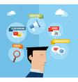Social media user concept flat vector image