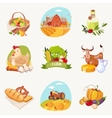 Farm Related Objects Set Of Bright Stickers vector image