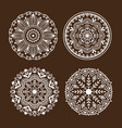 henna tattoo mehndi flower template doodle vector image
