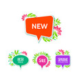 decorative price tags with floral elements vector image
