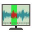soundwave icon cartoon style vector image