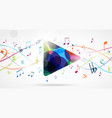 colorful music notes pattern vector image