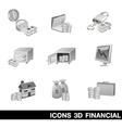 Icon Set 3D Financial vector image vector image