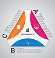 Abstract paper options infographics template vector image
