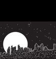 city moon night vector image