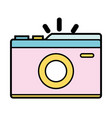 digital camera to take a picture art vector image