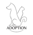 Emblem for the organization for adoption of vector image